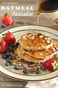 Cozy Oatmeal Pancakes {Low-FODMAP, Gluten-Free, Dairy-Free} / Delicious as it Looks