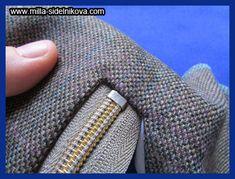 Молния без шва. Zipper Tutorial, Sewing Techniques, Couture, Crochet, Beginner Sewing Projects, Stitching, Zippers, Blouse, Manualidades