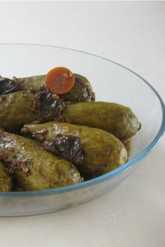 The tamarind concentrate adds a special sweat and sour flavor to this stuffed zucchini delicious dish. You can substitute the zucchini with grape leaves.