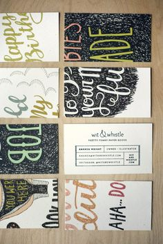 Whimsical style incorporates hand illustrated typography and textures that relate to nature and animals Lettering, Typography Logo, Logos, Typography Design, Logo Design, Graphic Design, Stamped Business Cards, Unique Business Cards, Business Logo