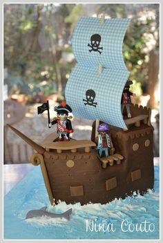 gâteau bateau pirate pate à sucre 6