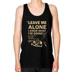 LEAVE ME ALONE ABU DHABI Unisex Fine Jersey Tank (on man)