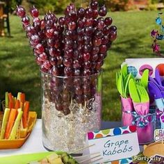 Grape kabobs (Celtie's 1st bday ideas)