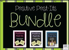 Thank you for visiting my TpT Store!This bundle consists of all 3 popular Positive Post-Its products that are available at I Heart Grade 3.  This product contains 145 pages of Positive Post-Its for building confidence in your students, for handing out praise, and for celebrating different events throughout the year.