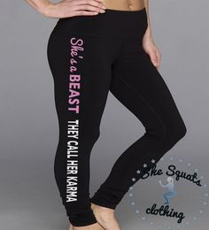 She s a Beast Performance Workout Leggings. by SheSquatsClothing 2e3cd909f53