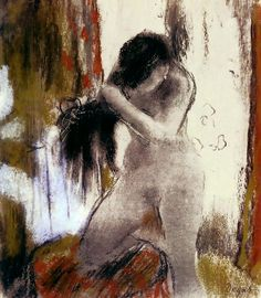 urgetocreate:  Edgar Degas, Combing Hair, 1879