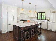 dallas white granite kitchen traditional with tropical dining room chairs – Kitchen Rugs sink Kitchen Chairs, Kitchen Rug, Dining Room Chairs, Kitchen Flooring, Kitchen Decor, Dark Stained Cabinets, Stained Wood Trim, Dark Cabinets, White Granite Kitchen