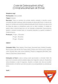 Planejando um acampamento para os desbravadores – Programa | cantinhodaunidade.com.br