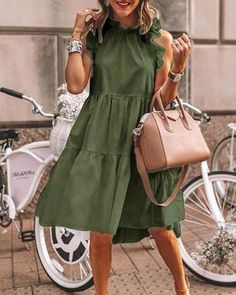 Elegant Summer Dresses, Summer Dresses For Women, Casual Dresses, Fashion Dresses, Dresses To Wear To A Wedding, Vacation Dresses, Knee Length Dresses, Mode Style, Ideias Fashion