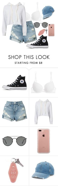 """Untitled #276"" by rowanstella-1 on Polyvore featuring Converse, La Perla, 3x1, Monrow, Ray-Ban, Belkin and Mudd"