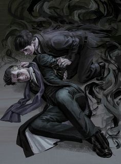 Credence Barebone and Percival Graves. Fantastic beats and where to find them Arte Do Harry Potter, Harry Potter Universal, Harry Potter Fandom, Credence Barebone, Vampire Stories, Fantastic Beasts And Where, Gay Art, Magical Creatures, Anime Guys