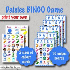 Girl Scouts: DAISIES BINGO GAME!!!