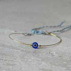 Tiny little friendship bracelet brass adjustable with by AMEjewels