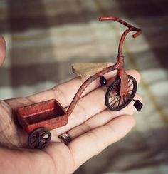 tutorial: miniature aged tricycle