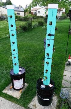 DIY Aeroponic Tower Garden diyproject Gardening Pinterest