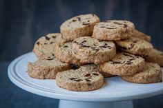 Gluten Free Maple Oat and Dried Cherry Shortbread Cookies