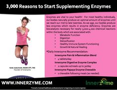 Should you be taking an #enzyme #supplement? www.innerzyme.com #healthtalk #innerzyme #enzymes #detoxification #naturalhealing #digestion