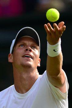 Czech sixth seed Tomas Berdych, the 2010 runner-up, was knocked out of Wimbledon, losing 7-6 (7/5), 7-6 (7/4), 7-6 (7/4) to Latvia's Ernest Gulbis.