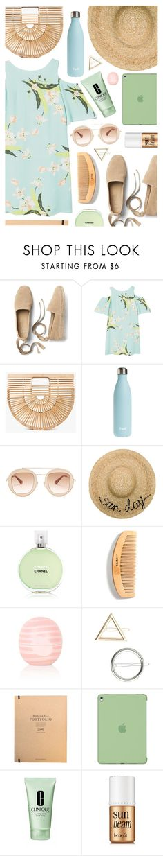 """Wild, wild, wild thoughts"" by sunshineb ❤ liked on Polyvore featuring Gap, MANGO, Cult Gaia, S'well, Gucci, Eugenia Kim, Chanel, Eos, Miss Selfridge and Apple"