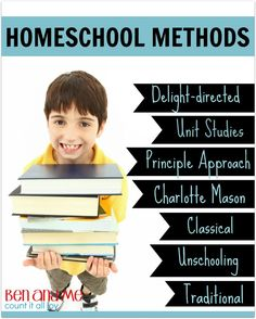 Confused about homeschool methods? Here I explain some of the top options.