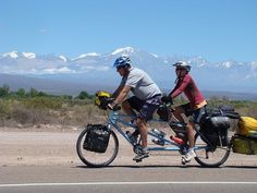 You know all the words to 'A Bicycle Built For Two' but does that mean you should consider touring on a tandem? Touring Bicycles, Touring Bike, Rio, Electric Bike Kits, Camping Tours, Tandem Bicycle, Cargo Bike, Chevrolet Corvette, Trailers