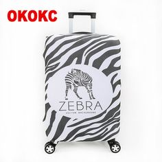 Thick Zebra Elastic Luggage Protective Cover Travel Dust Cover Bag For 18 to 30 inch Trolley Suitcase Accessories Supplies