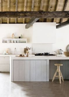 pale grey and white kitchen