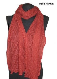 Invero Schal BELLA karmin (rot) 31,90 Baumwolle