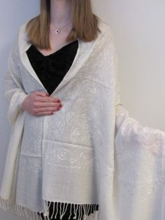 WARM EMBROIDERED SHAWLS SO BEAUTIFUL AND SO UNIQUE ON SALE HURRY AND GRAB THE DEAL. http://www.yourselegantly.com/winter-shawls-ruana-wraps/embroidered-shawls/embroidered-warm-off-white-shawl-dream.html