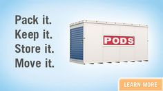 The Best Moving & Storage Idea Ever for Self Storage, Portable Moving and Storage Solutions Pods Moving And Storage, Storage Pods, Storage Containers, Moving Store, Moving Away, Amber Alert, Georgia On My Mind, Self Storage, Long Distance