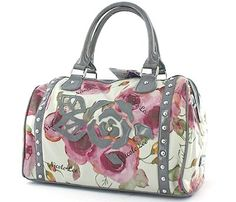 Nicole Lee Handbags Lara Flower Purse Floral Laser cut Bags Grey                                                                                                                                                                                 More