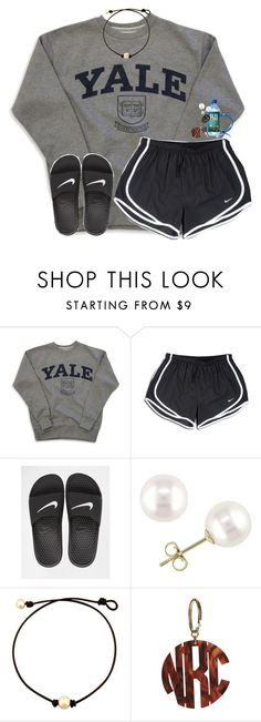 """""""it's raining so much"""" by lindsaygreys ❤ liked on Polyvore featuring NIKE and Miadora"""