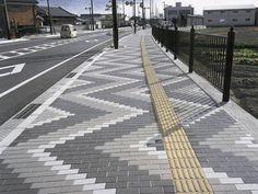 Bildergebnis für line pavement landscape Hardscape Design, Paving Design, Paver Patterns, Paving Pattern, Brick Paving, Paver Walkway, Road Pavement, Pavement Design, Paver Blocks