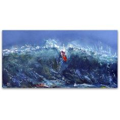 Trademark Fine Art Big Wednesday Canvas Art by Lowell S.V. Devin, Size: 12 x 24, Multicolor