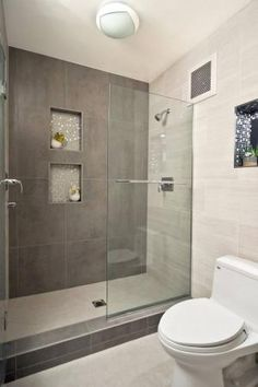 Modern Walk-in Showers - Small Bathroom Designs With Walk-In Shower by mandy