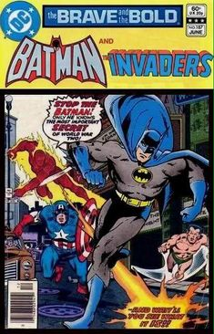 Super-Team Family: The Lost Issues!: Batman and The Invaders Dc Comics, Batman Comics, Comic Poster, Comic Art, Comic Book Covers, Comic Books, Marvel And Dc Crossover, Caricatures, Make A Comic Book