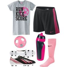 A girl can wear confidence on her feet with cleats !  #nike #Soccer #Outfit #Football