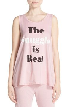 Junk Food 'The Snuggle is Real' Graphic Tank