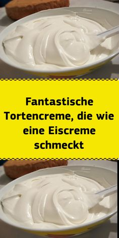 Fantastic cake cream that tastes like ice cream - Ap .- Fantastic cake cream that tastes like ice cream No Cook Desserts, Healthy Desserts, Easy Desserts, Healthy Pasta Recipes, Healthy Pastas, Low Fat Cake, Sour Cream, Ice Cream, Dessert Blog
