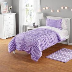 your zone ruched mini comforter set Image 1 of 2
