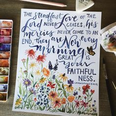 New Every Morning Print - GraceLaced Bible Verse Painting, Scripture Art, Bible Art, Bible Scriptures, Gouche Painting, Lamentations 3 22 23, Great Is Your Faithfulness, New Every Morning, Hope In God