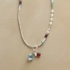 Sundance EMBERS necklace. Love the wire-wrapped gems.