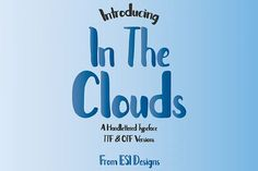 In The Clouds Font from FontBundles.net