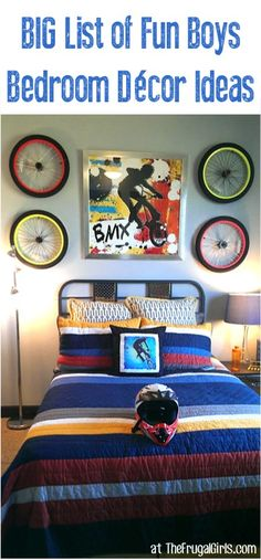 Boy Bedroom Decorating Ideas - at TheFrugalGirls.com - get inspired with these fun stylish decor tips for bedrooms guys will LOVE! #thefrugalgirls
