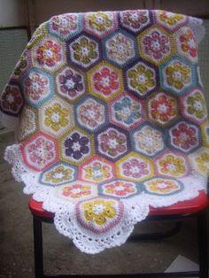 Granny Square Crochet BlanketBaby Crochet by GalyaKireva on Etsy, $65.00