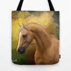 Palomino horse Tote Bag by Horseaholic - $22.00
