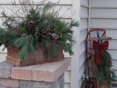 decorated old sleds | Do you have any creative Christmas decorating plans for this year?