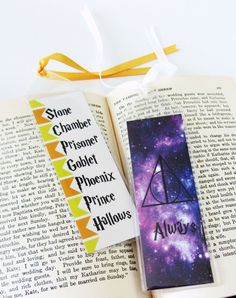 Set of 2 Harry Potter Bookmarks by WhereMagicLivesDsign