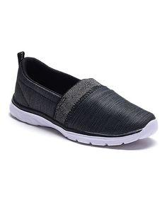 Another great find on #zulily! Black Slip-On Sneaker #zulilyfinds