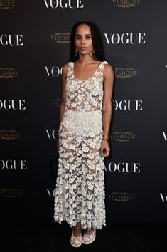 Zoe Kravitz attends the Vogue 95th Anniversary Party on October 3, 2015 in Paris, France.